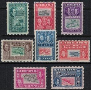 Liberia #332-7,C68-9*/u  CV $2.65