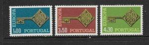 PORTUGAL - EUROPA 1968 - SCOTT 1019 TO 1021 - MNH