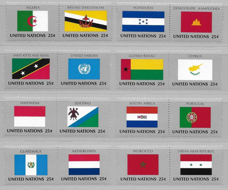 United Nations 554-69 Flags set MNH
