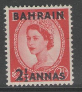 BAHRAIN SG84 1952 2½a on 2½d CARMINE-RED MNH