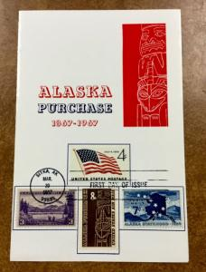 C70 COMBO FDC 1967 PURCHASE ALASKA 100 ANNIVERSARY Folder #800, 1132, C53