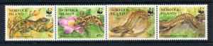 [90945] Norfolk Island 1996 Reptiles Gecko Skink WWF  MNH