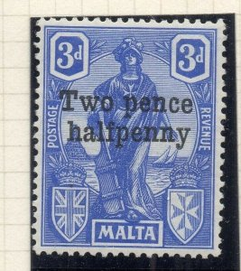Malta 1925 Early Issue Fine Mint Hinged 2.5d. Surcharged 321559