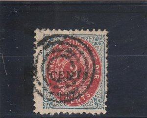Danish West Indies  Scott#  24  Used  (1902 Surcharge)