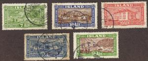 Iceland #144-48 used complete early set