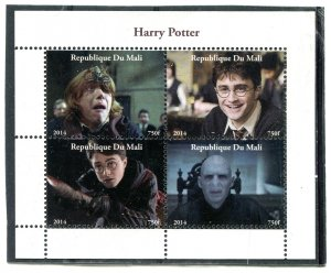 Mali 2014 HARRY POTTER Daniel Radcliffe Movie Sheet Perforated Mint (NH)