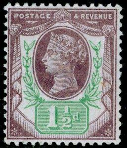 SG198 SPEC K29(1), 1½d pale dull purple & pale green, LH MINT. Cat £18.