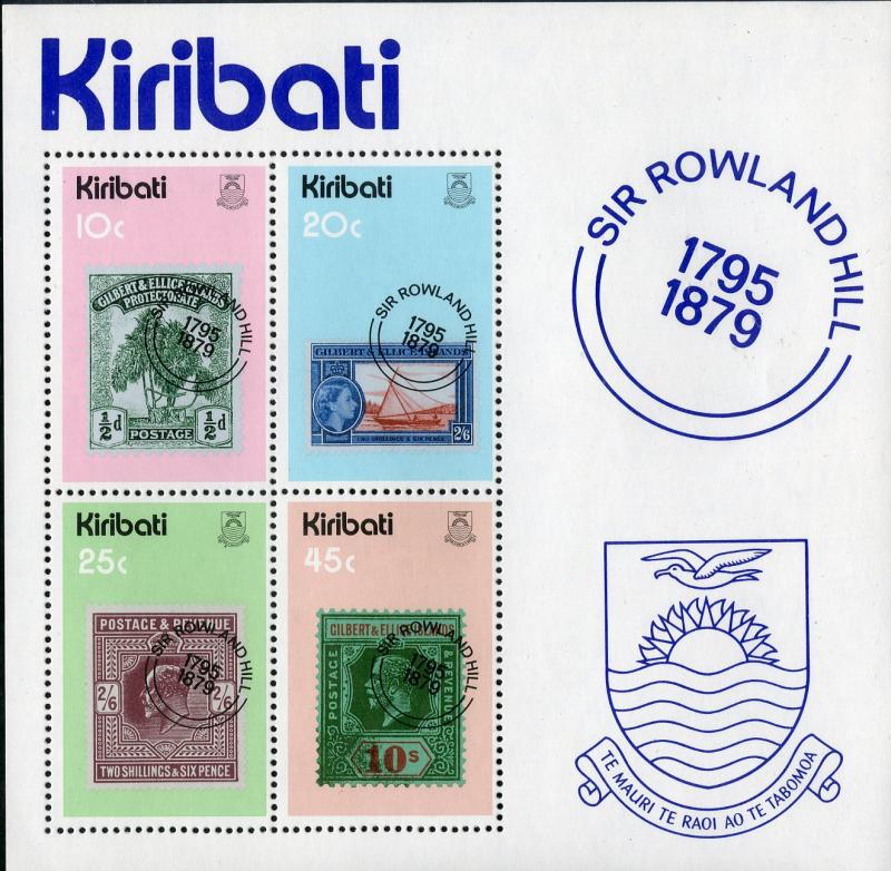 KIRIBATI 344a MNH S/S SCV $1.25 BIN $1.00 STAMP ON STAMPS
