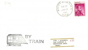 1967 Chift Mad & KC R.P.O.Railroad + By Train Cachet #101