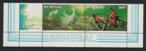 Senegal Birds Egrets Bee eaters National Park Bottom strip of 2v 1987 MNH