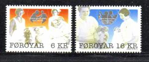 Faroe Islands Sc 549-50 2011 Traditional Womens Occuapations stamp set  mint NH