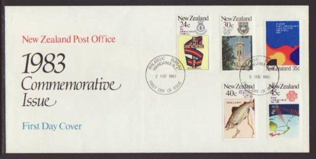 New Zealand 771-775 Commemortives 1983 U/A FDC