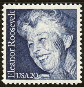 U.S. #2105 Eleanor Roosevelt. VF, MNH