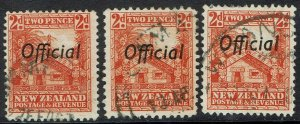 NEW ZEALAND 1936 OFFICIAL HUT 2D ALL 3 PERFS USED
