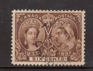 Canada #55 VF Used With Ideal Feb 17 1906 CDS Date Cancel