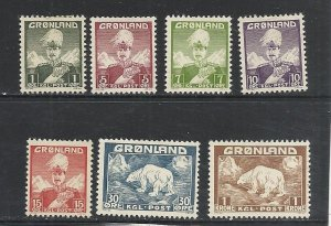 Greenland #1-5, 7, 9 comp mint cv $17.05
