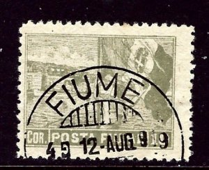 Fiume 53 Used 1919 issue rounded corner    (ap3370)