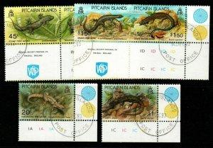 PITCAIRN ISLANDS SG436/41 1993 LIZARDS FINE USED