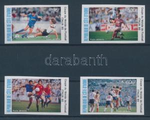 Ivory Coast stamp World Cup,Italy imperforated set MNH 1990 WS106308