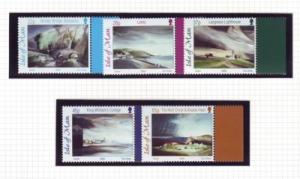 Isle of Man Sc 949-53 2002 Toni Onley Paintings mint NH