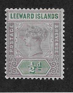 LEEWARD ISLANDS SC# 1  F/MOG 1890