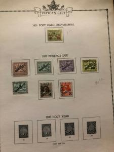 Fantastic Vatican Album Stamp Collection Lot MXE