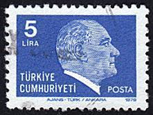 Turkey # 2132 used ~ 5 l Kemal Ataturk