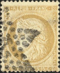 FRANCE - Yv.59 15c bistre (petits chiffres) obl. étoile de Paris (2?)