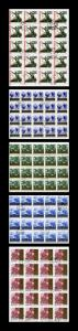 Russia 1965 Mi 3053-6,3090 Used  5 Sheets of 20 stamps