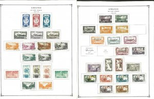 Lebanon 1924-1978 Mint & Mostly Used on 40+ Scott Int. Pages