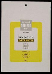 Scott Mounts Clear, 196/158 mm (pkg 4) (01013C)