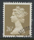 Great Britain SG X972 Sc# MH132    Used with first day cancel - Machin 26p