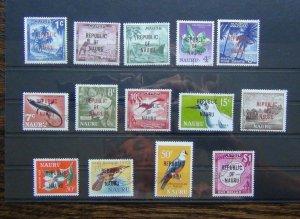 Nauru 1968 set to $1 SG80 - SG93 Fine Used