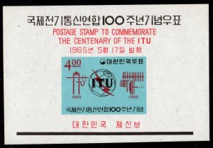 Korea - Mint Souvenir Sheet Scott #472a (International Telecommunications Union)