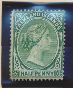 Falkland Islands Stamp Scott #9, Mint Hinged - Free U.S. Shipping, Free World...