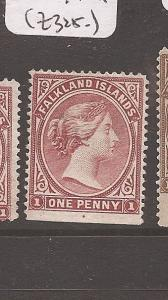 FALKLAND ISLANDS (2008) QV 1D SG8 POSITION DOT  MNG