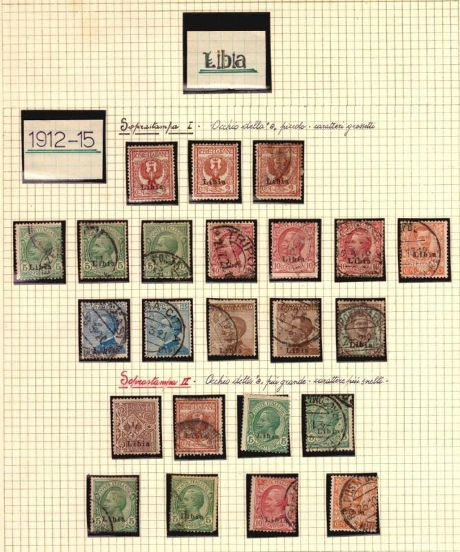LIBIA LOT LIBYA ITALY COLONIES VERY NICE STAMP COLLECTION WITH VARIETIES $$