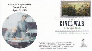 Civil War/Appomattox First Day Cover, w/ DCP cancel, #1 of 2