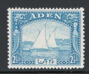 Aden 1937 Dhow 2 1/2a Scott # 5 MH