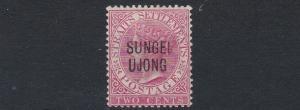 SUNGEI UJONG  1885 - 90  S G 42  2C  PALE BLUE  MH