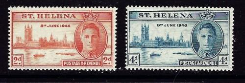 St Helena 128-29 NH 1946 Peace Issue