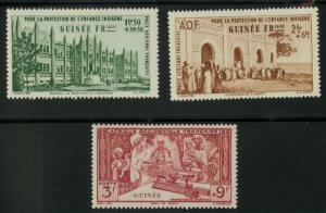French Guinea CB1-CB3 Mint VF H