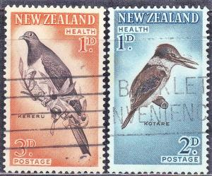 NEW ZEALAND SC# B59-60  BIRDS  SEE SCAN
