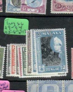 MALAYA TRENGGANU  (PP2706B)  SULTAN  SG 89-94, 95-6   MNH