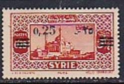 Syria 1938 Scott 264 Surcharge MH