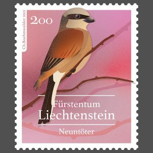 Stamps Of Liechtenstein 2021 - Native Songbirds.(4)
