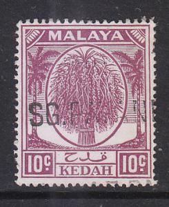 Malaya Kedah 1950 Sc 69 10c Used