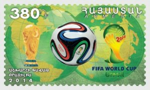 2014   ARMENIA - SG: 910   -  FIFA WORLD CUP - BRAZIL  - UNMOUNTED MINT