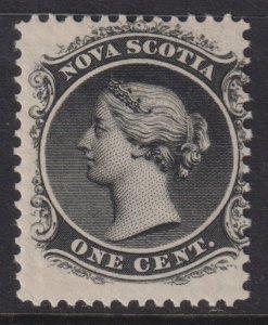 1860-63 Canada Nova Scotia Queen Victoria QV 1¢ MVLH Sc# 8 CV 15.00 Stk #11