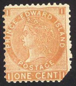 Canada Prince Edward Island Sc# 11 Cull MNH 1872 1¢ brown orange Queen Victoria